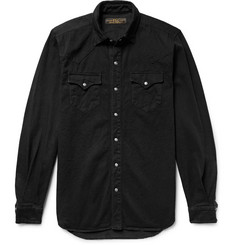 Freemans Sporting Club Rinsed-Denim Western Overshirt