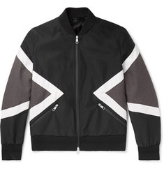 Neil Barrett Panelled Shell Bomber Jacket