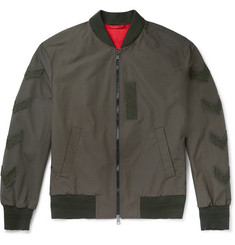 Neil Barrett Embroidered Cotton-Blend Canvas Bomber Jacket