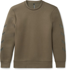 Neil Barrett Embroidered Neoprene Sweatshirt