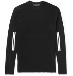 Neil Barrett Striped Cotton-Jersey T-Shirt