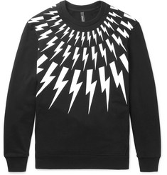 Neil Barrett - Printed Loopback Cotton-Jersey Sweatshirt