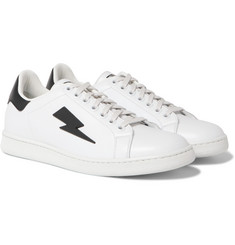 Neil Barrett - Rubber-Trimmed Leather Sneakers