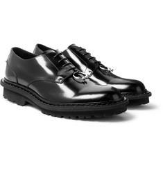 Neil Barrett Embellished Polished-Leather Derby Shoes