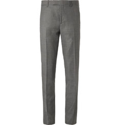 Paul Smith Grey Soho Slim-Fit Prince of Wales Checked Wool Suit Trousers