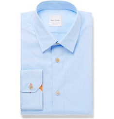Paul Smith Blue Soho Slim-Fit Cotton-Poplin Shirt