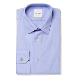 Paul Smith Blue Soho Slim-Fit End-on-End Cotton Shirt