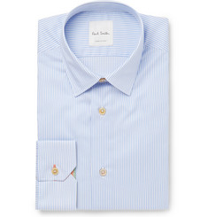 Paul Smith - Blue Soho Slim-Fit Bengal-Striped Cotton Shirt