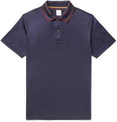 Paul Smith Slim-Fit Contrast-Tipped Cotton-Jersey Polo Shirt