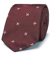 Paul Smith - 6.5cm Embroidered Silk-Faille Tie