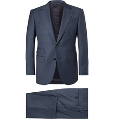 Ermenegildo Zegna Blue End-on-End Wool Suit