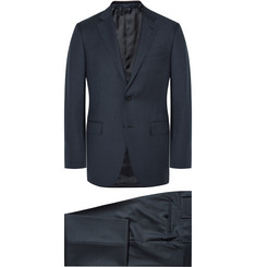 Ermenegildo Zegna Blue Slim-Fit Micro-Checked Wool Suit