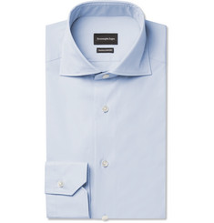 Ermenegildo Zegna Blue Slim-Fit Cotton Shirt