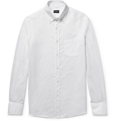 Ermenegildo Zegna Slim-Fit Button-Down Collar Cotton Oxford Shirt