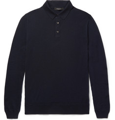 Ermenegildo Zegna - Wool and Cashmere-Blend Polo Shirt