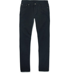 Ermenegildo Zegna - Slim-Fit Brushed Stretch-Cotton Twill Trousers