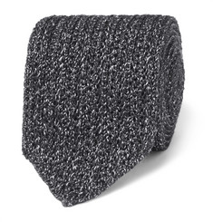 Ermenegildo Zegna - 6cm Mélange Knitted Silk and Wool-Blend Tie