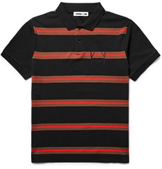 McQ Alexander McQueen Striped Cotton-Piqué Polo Shirt