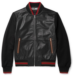 McQ Alexander McQueen Panelled Leather Bomber Jacket
