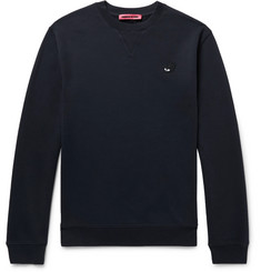 McQ Alexander McQueen - Slim-Fit Appliquéd Loopback Cotton-Blend Jersey Sweatshirt