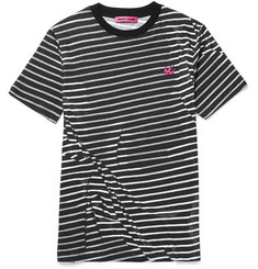 McQ Alexander McQueen Striped Cotton-Jersey T-Shirt