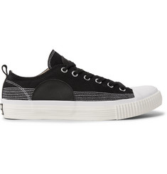 McQ Alexander McQueen Leather-Panelled Canvas Sneakers