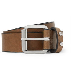 McQ Alexander McQueen 3cm Brown Leather Belt