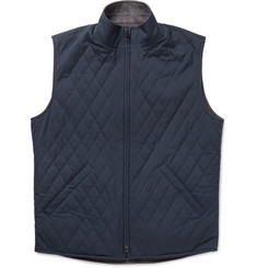 Loro Piana - Marlin Reversible Quilted Shell and Wool-Blend Tweed Gilet