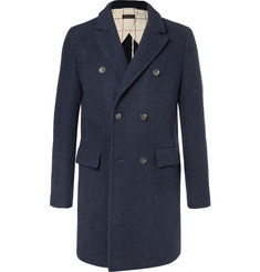 Loro Piana Double-Breasted Virgin Wool and Cashmere-Blend Coat