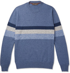 Loro Piana Striped Cashmere and Silk-Blend Sweater