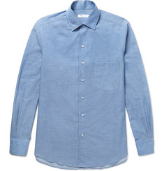 Loro Piana - End-on-End Cotton and Cashmere-Blend Shirt