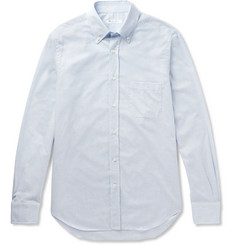 Loro Piana - Alfred Button-Down Collar Puppytooth Brushed-Cotton Shirt