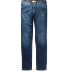 Loro Piana Tasche Slim-Fit Washed Stretch-Denim Jeans