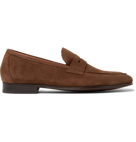 3f1706d2f64 Paul Smith Glynn Suede Penny Loafers In Brown