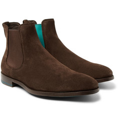 Paul Smith Myron Contrast-Trimmed Suede Chelsea Boots