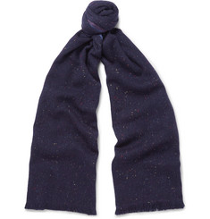 Loro Piana - Mélange Slub Cashmere and Silk-Blend Scarf