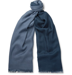 Loro Piana - Duo Fringed Cashmere and Silk-Blend Scarf