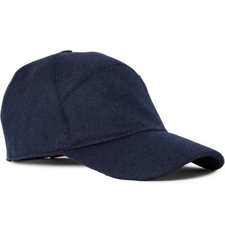 44cc2811b32 Loro Piana Storm System Baby Cashmere Baseball Cap - Idnight Blue In  Midnight Blue