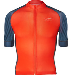 Pas Normal Studios Solitude Mesh-Panelled Zip-Up Cycling Jersey