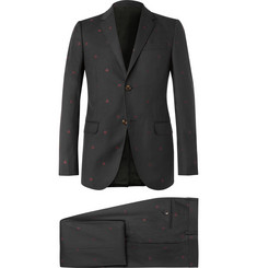 Gucci Grey Slim-Fit Wool-Jacquard Suit