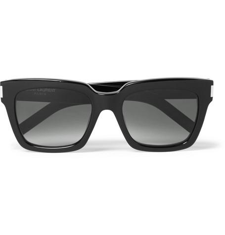 Saint Laurent Men's Oversize Square Sunglasses, 53mm In Black