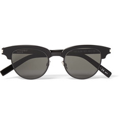 Saint Laurent D-Frame Acetate and Gunmetal-Tone Sunglasses