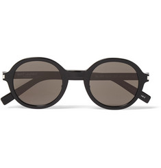 Saint Laurent Classic 161 Slim Round-Frame Acetate Sunglasses