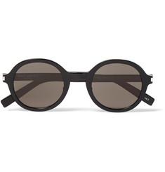 c774901d782 Saint Laurent Classic 161 Slim Round-Frame Acetate Sunglasses