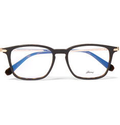 Brioni D-Frame Tortoiseshell Acetate and Gold-Tone Optical Glasses