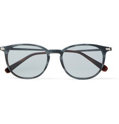 Brioni - Round-Frame Acetate and Ruthenium Sunglasses