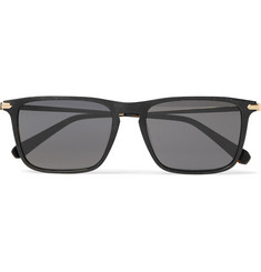 Brioni Square-Frame Acetate and Gold-Tone Sunglasses
