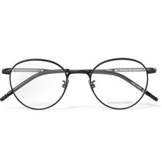 Bottega Veneta Round-Frame Titanium and Acetate Optical Glasses