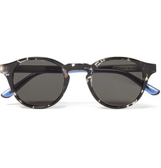 Bottega Veneta Round-Frame Two-Tone Acetate Sunglasses