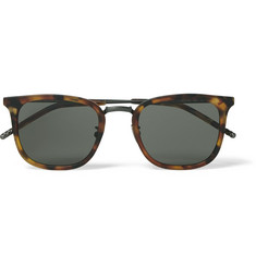 Bottega Veneta D-Frame Tortoiseshell Acetate and Titanium Sunglasses
